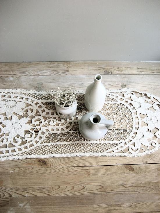 Vintage Long Crochet Runner. $45.00, via Etsy.