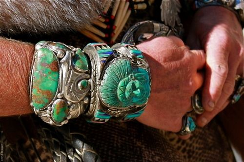 Carved turquoise
