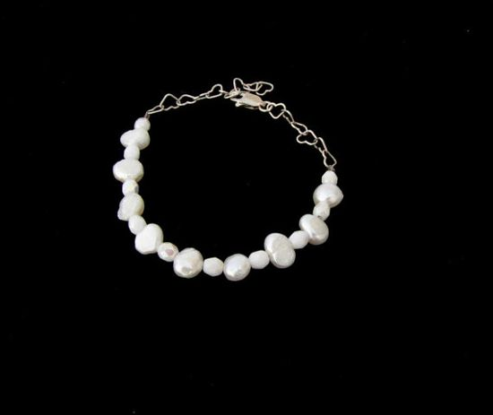 Pearl Bracelet Sterling silver bracelet pearl Jewelry by Readesign, $10.00
