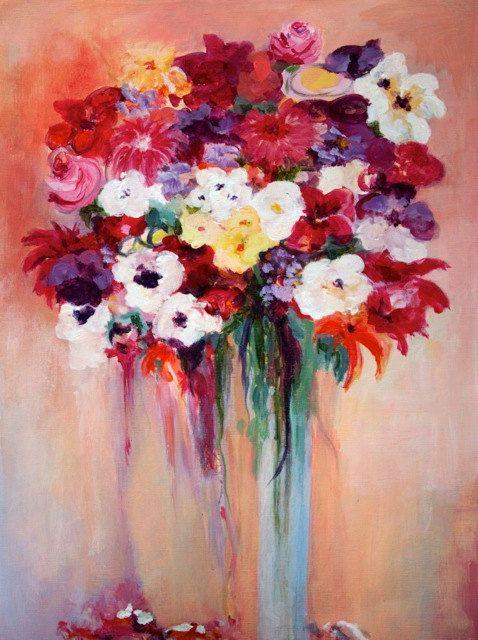 Original Flower Painting #Etsy #JonathanAdler #GetChicSweepstakes