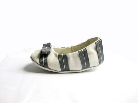 stripes - baby shoes