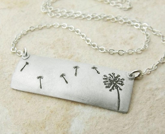 Dandelion wishes necklace in silver $48.00