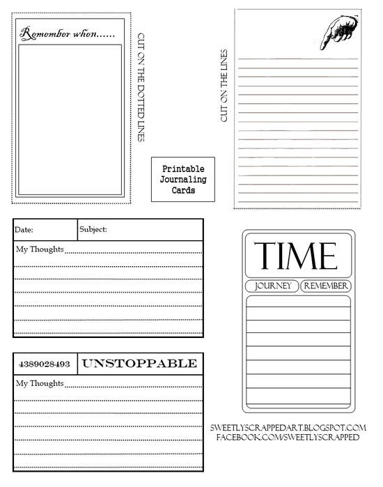 Free printable journaling cards - ephemera #creative handmade gifts #diy gifts #hand made gifts #handmade gifts #do it yourself gifts