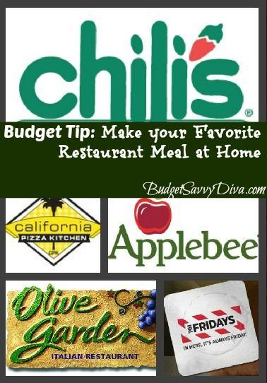 Budget Tip: Make your Favorite Restaurant Meal at Home