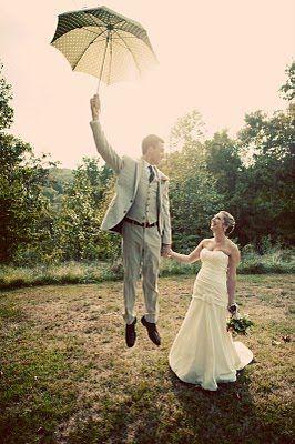 jump while holding an umbrella..genius.