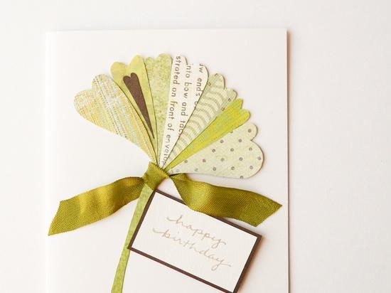 Handmade Birthday Card ginkgo leaf