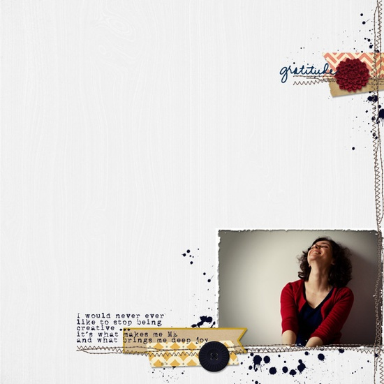 Great minimalist scrapbook page!