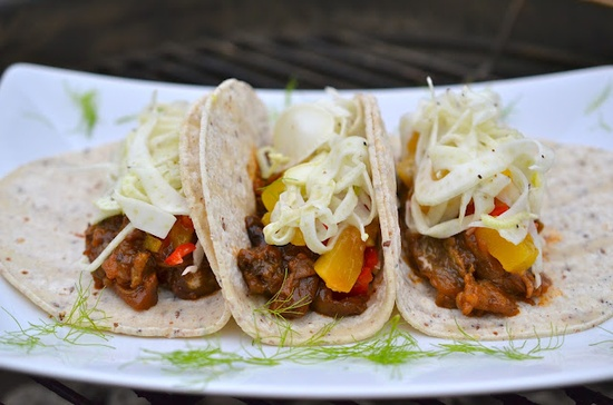 It's taco time! BBQ Eggplant Tacos are a smoky, lip-smacking way to spice up your next cookout.