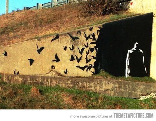 street art - Batman graffiti