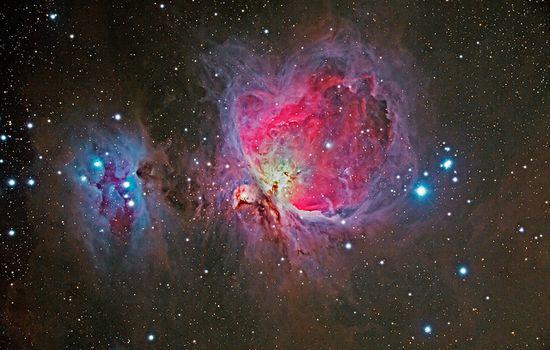 M42 Orion Nebula, NGC 1977 Running Man Nebula