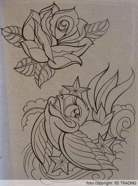 Flower Tattoo Sketches