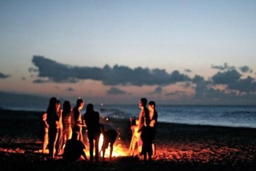 Beach bonfires. ?