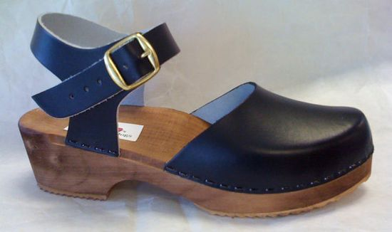 Handmade wooden and leather buckle strap clog. Wear with *everything*. #LocalMilk