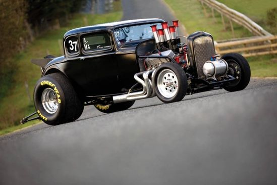 """""""The Grim Reaper"""", 1932 Ford 5-Window Coupe"""