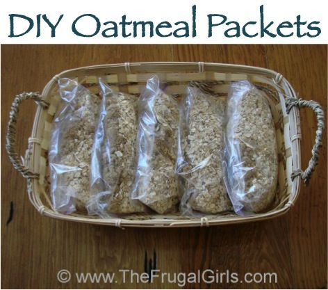 How To Make Homemade Oatmeal Packets! {easy tips for a quick, thrifty breakfast!} ~ from TheFrugalGirls.com #diy #oatmeal #packets
