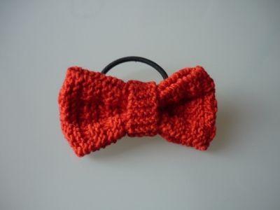 Knitted hair bow - Women hair accessory