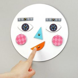 Make a face! DIY cardboard toy with changing faces for learning about emotions