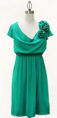 Jade green.