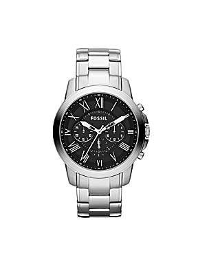 FOSSIL FS4736 GRANT Silver Stainless Steel Mens Watch ow.ly/qsFgj