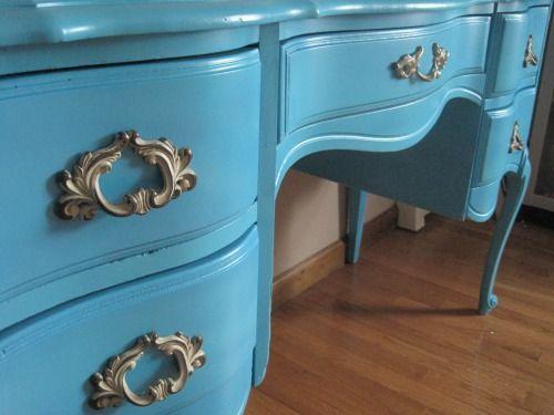 Spray painting furniture DIY