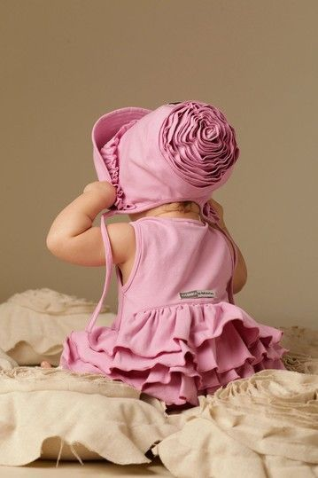 Pink Ruffled Baby Outfit.