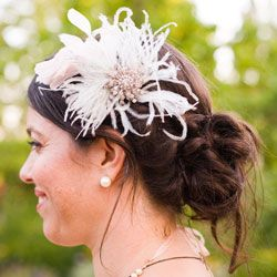 messy bun with hair accessory