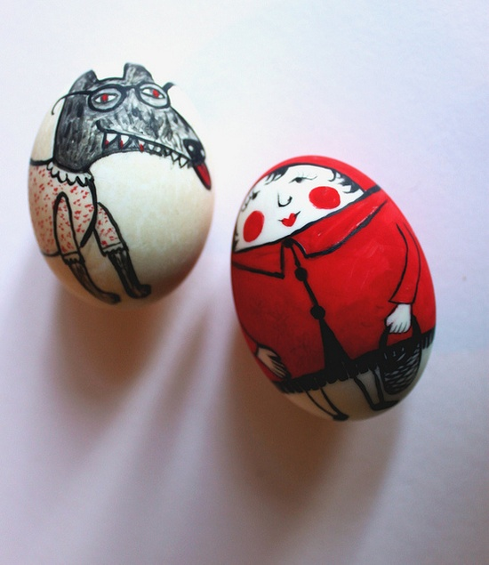 Little Red Riding Hood Eggs by Hazel Terry
