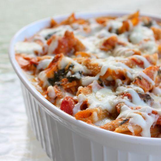 Healthy Three Cheese Pasta Dinner