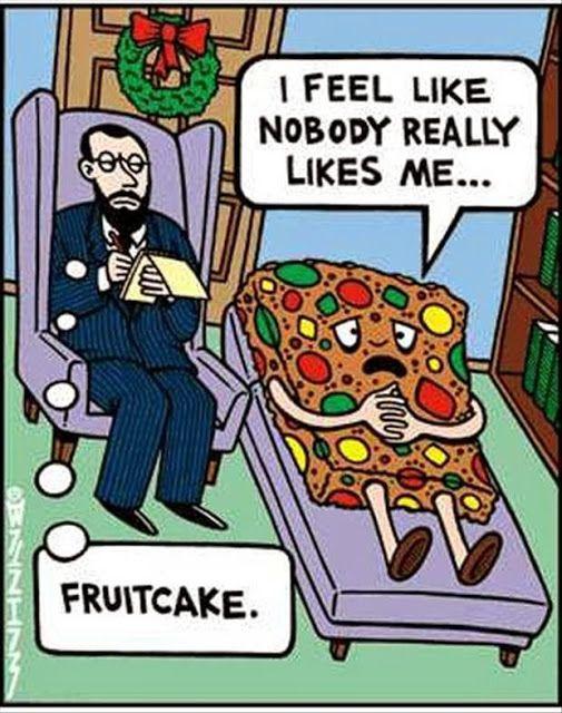 Funny Fruitcake Cartoon
