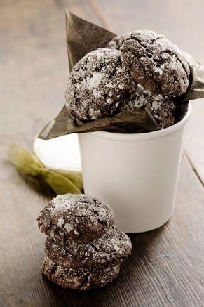 Paula Deen's Chocolate Gooey Butter Cookies.