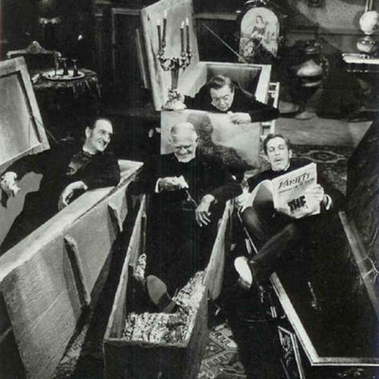 Basil Rathbone, Boris Karloff, Vincent Price & Peter Lorre.