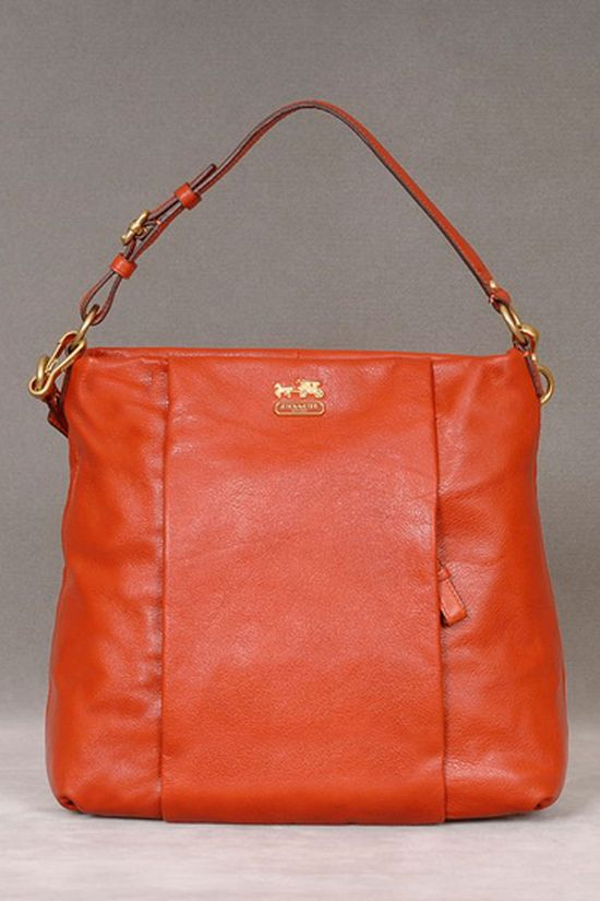Coach Leather Handbag In Persimmon.
