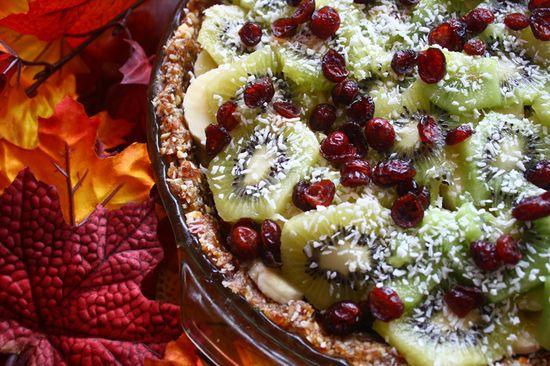 Fresh fruit paleo pie
