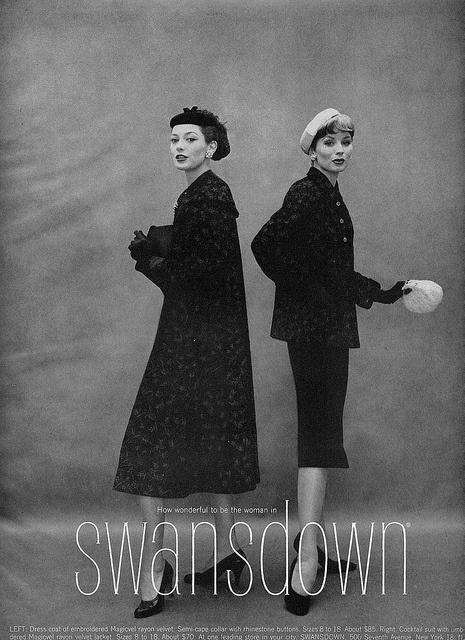 One elegant fabric, two beautiful 1950s coats. #vintage #fashion #1950s #jacket