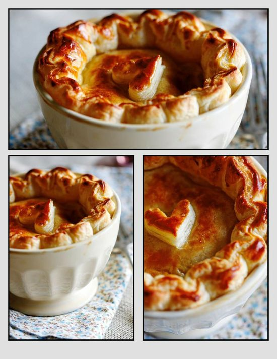 Chicken & Chorizo Pie with Puff Pastry
