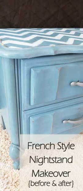 French Style Nightstand Makeover