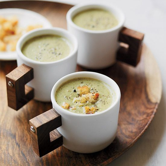 Creamy Roasted Broccoli Soup // More Warming Soups: www.foodandwine.c... #foodandwine