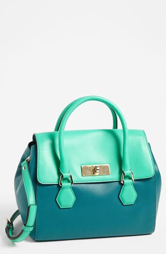 Kate Spade emerald satchel. Want this for fall!