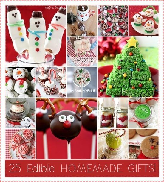 DIY:: 25 Easy Edible Gifts !!