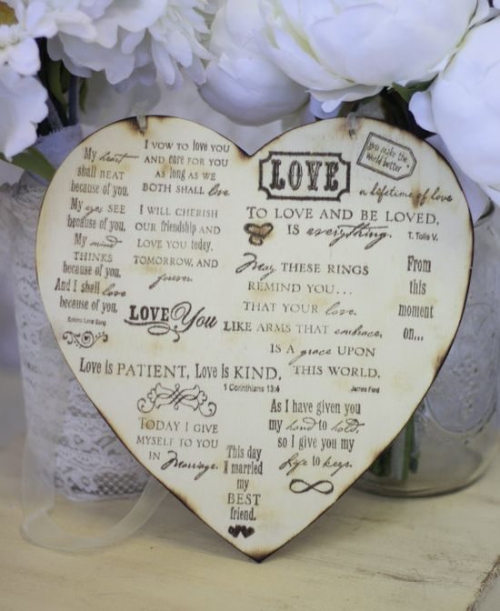 Use a wooden heart for everyone to sign...