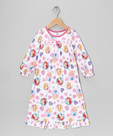 Take a look at this White & Pink Princess Gown - Toddler by Disney on #zulily today!