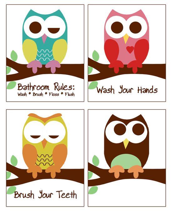 owl bathroom decor - Google Search
