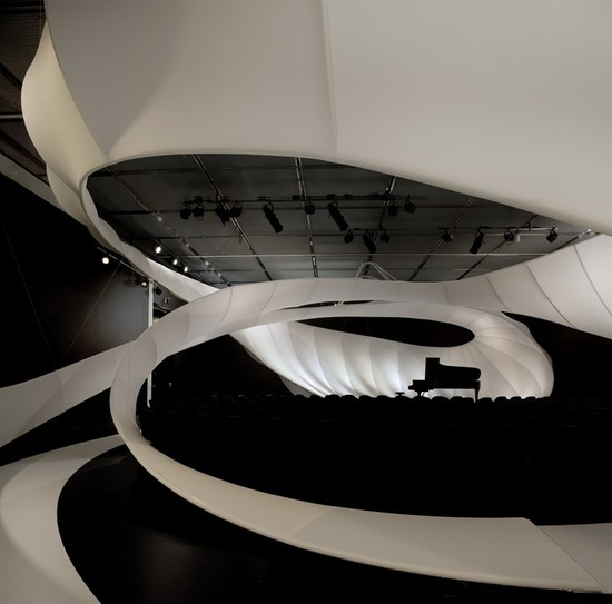 JS BACH CHAMBER MUSIC HALL  PADIGLIONE MUSICALE TEMPORANEO PER IL MANCHESTER INTERNATIONAL FESTIVAL 09  MANCHESTER / UNITED KINGDOM / 2008  Zaha Hadid #architects #architecture #music #pavilion