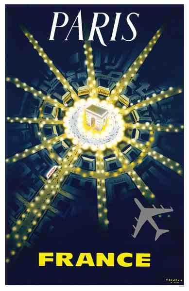 Paris travel poster  #vintage #travel #poster #france