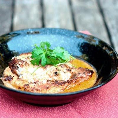 flounder with thai coconut sauce