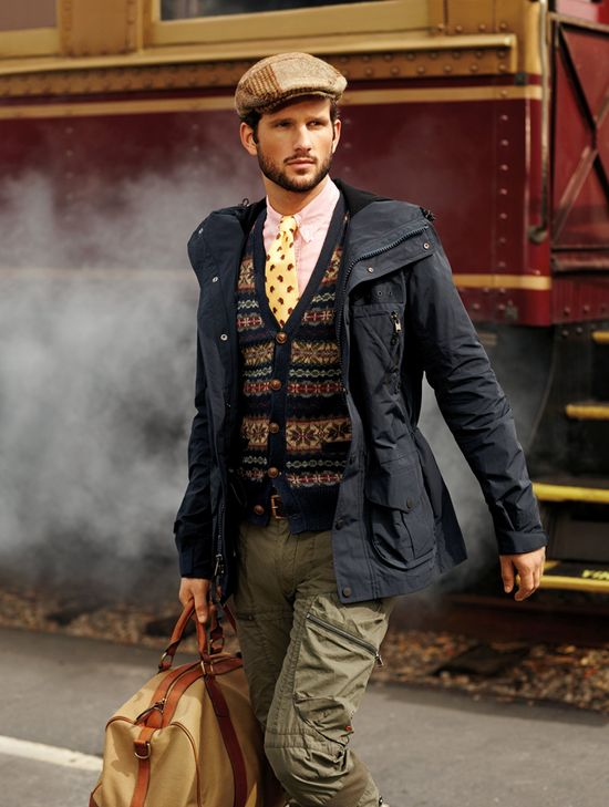 Classic textiles of a gentleman's wardrobe are reworked for Polo Fall 2013