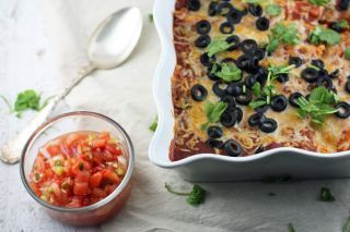 Skinny Chicken Enchiladas by Dori Grasska on Epicurious Community Table