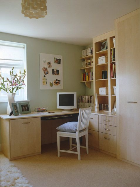 Home Office Designs: I love this home office look.