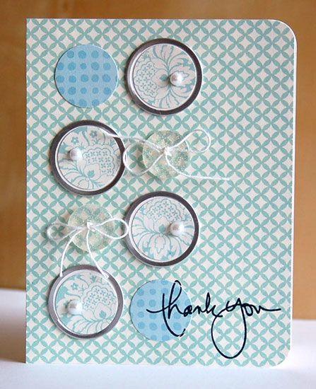 "Thank You Circles - Using Ali Edwards ""Loving Words"" stamp set."