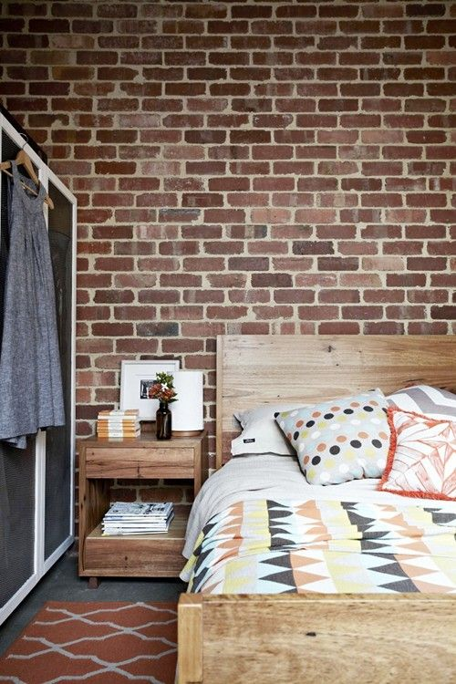 exposed brick #bedroom
